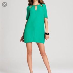 BCBG Rosetta Dress In Kelly Green Sz XXS
